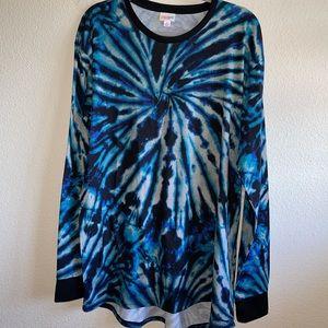 LuLaRoe Tie Dye Hudson Long Sleeve Top
